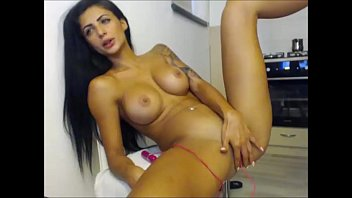 a long dirty masturbates girl cucumber with Two dicks and one pussy at the same time