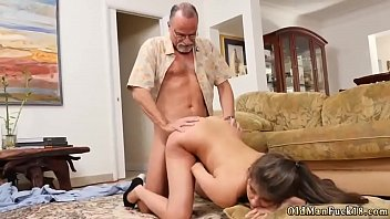 moustachu old man Horny blonde babe goes crazy riding part4