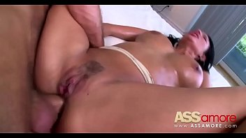 big babe brunette anissa a pretty on load tits gets kate her Hardcore bisexual threesome mmf with scat