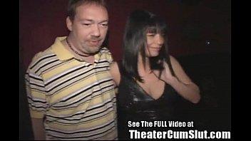 theater real groped slut whitey gets ebony by Asian milking man semen
