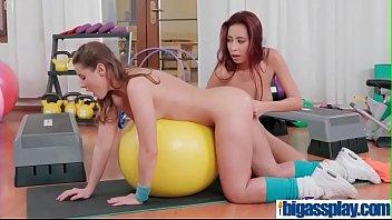 gym at milfhunter Lesbian bubble ass