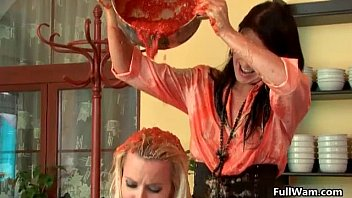 lesbians tribbing euro Group men shower
