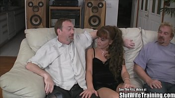 mistress to husband ass man in bring wife by forced Asian escort lingerie heels stockings