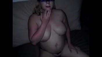 and wife fucked blindfolded tricked Husband on the phone whilewife is gangbanged
