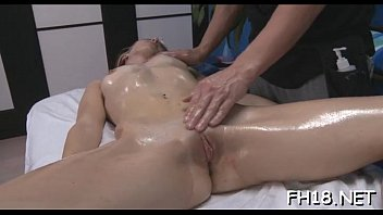 ask massage after Verry young pee