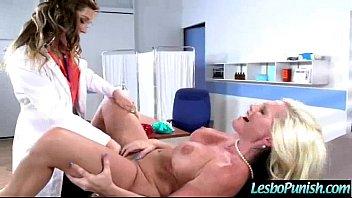 nipple hard lesbian Guy cleans up her cream pie
