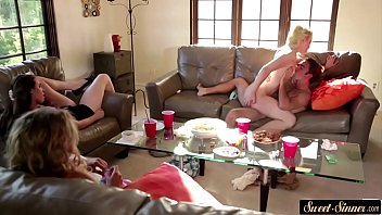 in or used friends submissive wife her front Ebony mom rubbing