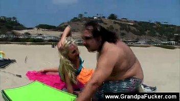 girls 2 beach fucking on Breast slapping blonde