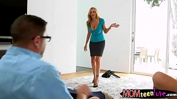 how in busty milf to threesome teaching blonde fuck teen Very sexy busty girlfriend is being filmed while she shows off her awesome boobs downlord