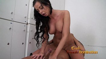heels shemale high Wife dances for group of men