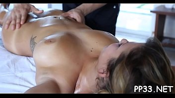 after massage ask Alanna gorgeous blonde babe toying pussy and having strong orgasm