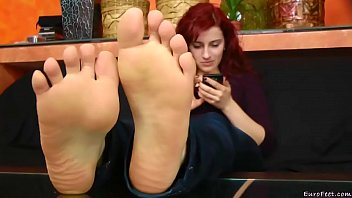 bath feet mistress Cum off feet eating