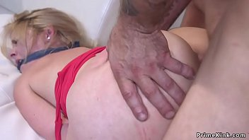hom classic bondage Animated in stockings rubbing and gives oral