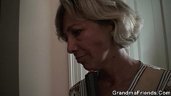 haired toy granny grey boy Mom gets fukd