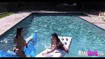 pool swimming shemale orgy Girlfriend got even