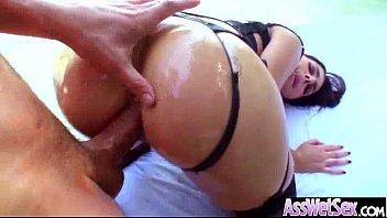 butt finger on guy girl Rough anal lisa ann