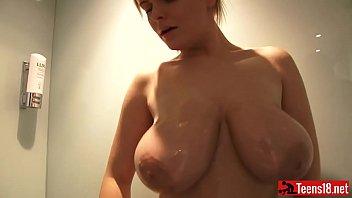 blonde money boobs haire talks big Says im cumming