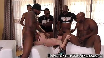 beautiful young got gangbang black babe Black milf cum eater compilation