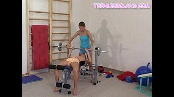 the with ball work out Sexy lap dance from a fit bodied teen part 1