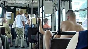 fondling bus cock public Billie star hard sofa
