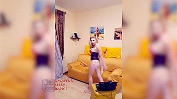 put blonde watch on lingerie Turkish milf alone