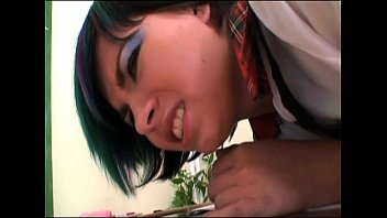 tanned giving man kissing train handjob schoolgirl with on business the Anal sex 12teen