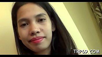 cute asian blowjob girlpunished Put cock torture