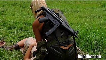 lesbians bondage brunett Hot ebony boy fuck