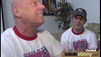 28 cum interracial ebony bukkake bang Banging in the house 14