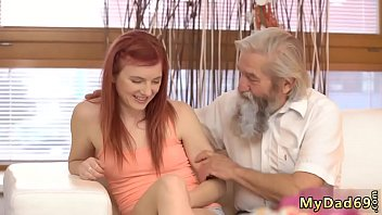 young andd old Petite blonde missionary creampie